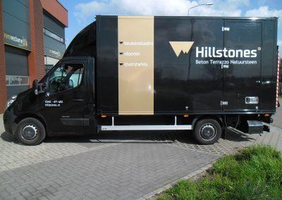 Hillstone belettering