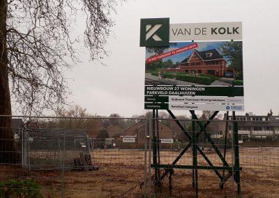 Bouwbord Bouwbedrijf Van de Kolk