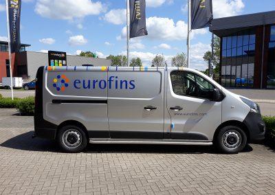 Eurofins belettering