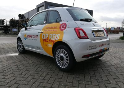 Zorgtours fiat 500 belettering