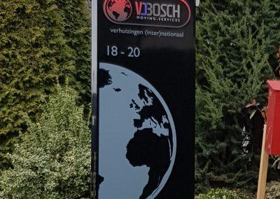 Van den Bosch reclame zuil met LED verlichting
