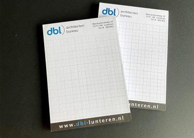 DBL Architecten - Notitieblokjes